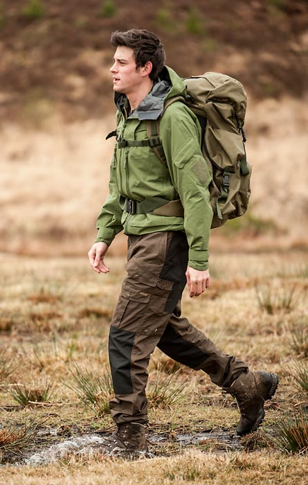 Fjallraven Barents Trousers - Dark Olive (Click for full size)
