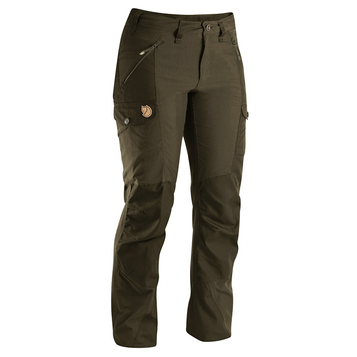 Fjallraven Nikka Women's Trousers - Dark Olive (Click for full size)