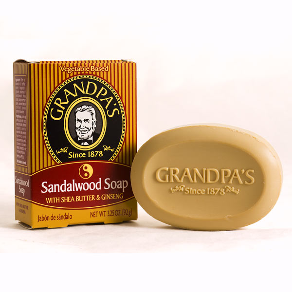 Grandpa's Sandalwood Soap - Pack of 4 (Click for full size)