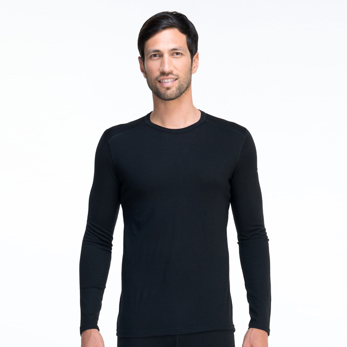 Icebreaker Oasis Long Sleeve Crewe - Black (Click for full size)