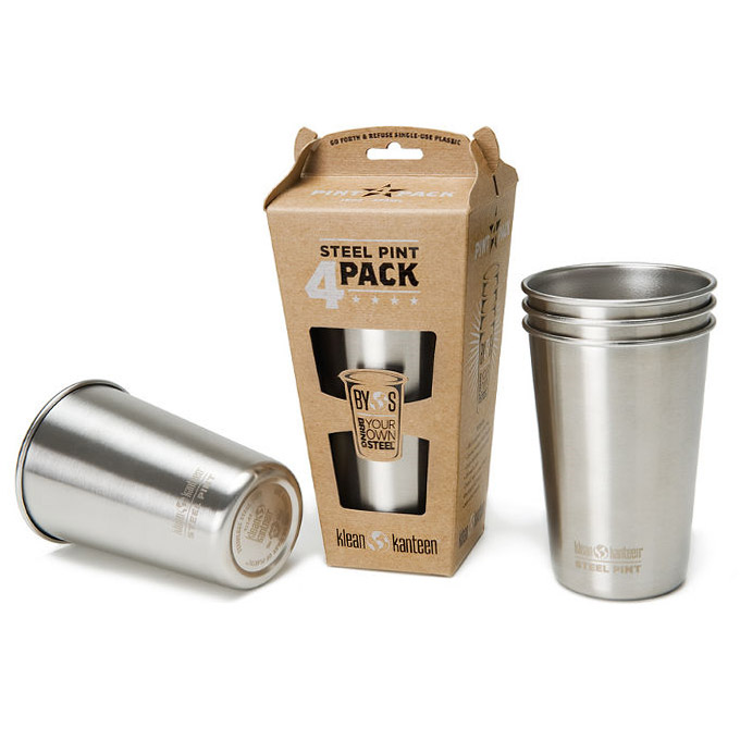 Klean Kanteen Steel Pint Cup - 4 Pack