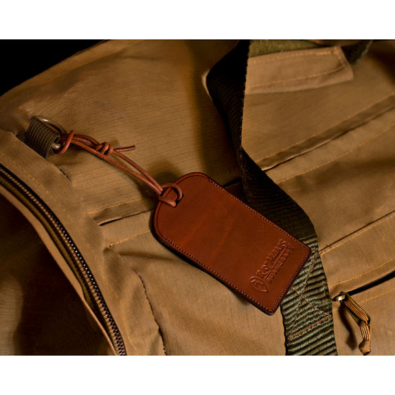 The Ray Mears Leather Luggage Tag (Click for full size)