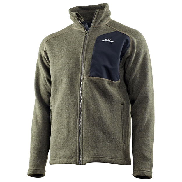 Lundhags Fjelle Full Zip Sweater - Forest Green (Click for full size)