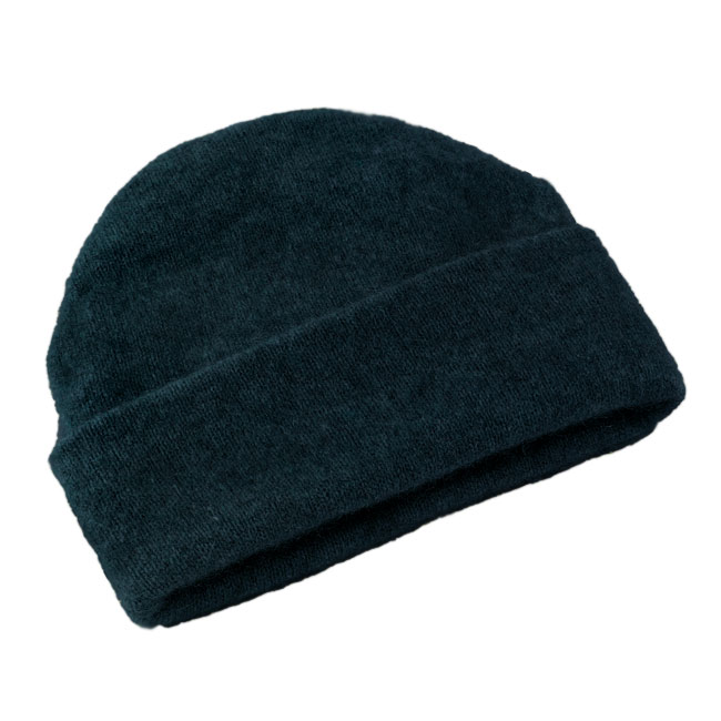Possum and Merino Beanie Hat - Navy (Click for full size)