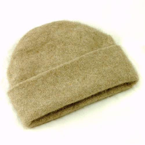 Possum and Merino Beanie Hat - Oyster (Click for full size)