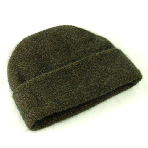 Possum and Merino Beanie Hat - Ebony (Click for full size)