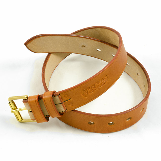 Ray Mears Leather Belt - Light Tan