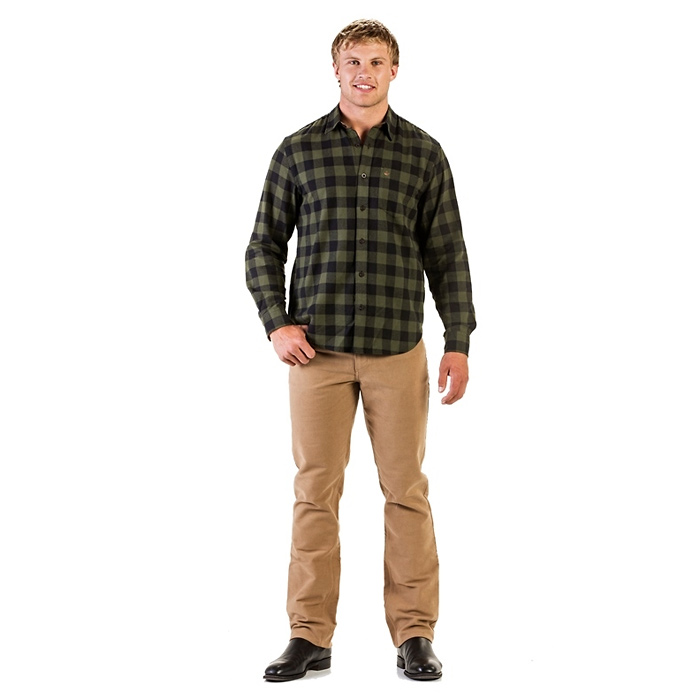 Swanndri Centenary Check Shirt - Olive/Black (Click for full size)