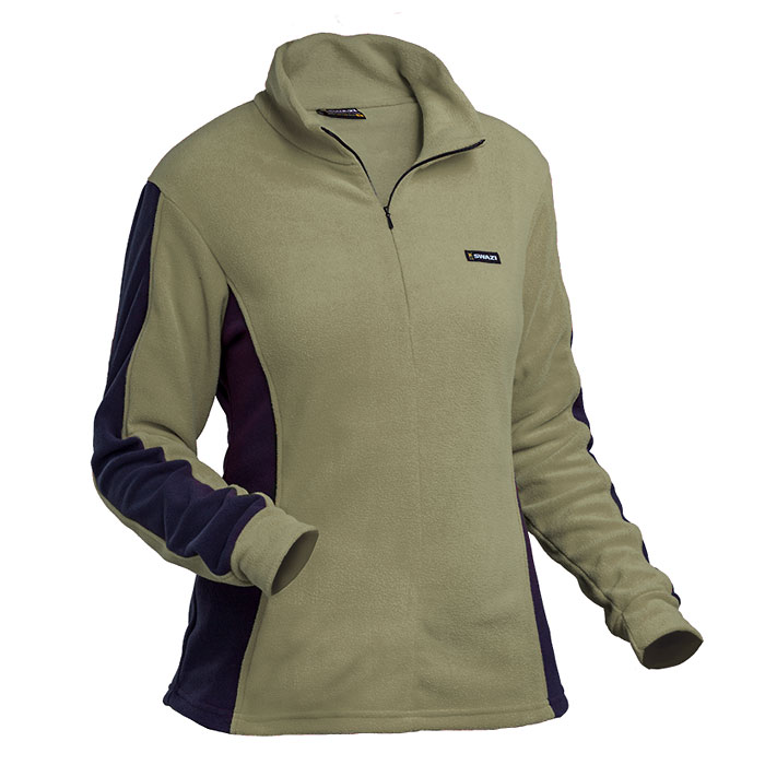 Swazi Twin Peaks Women's Fleece - Tussock Green/Black (Click for full size)
