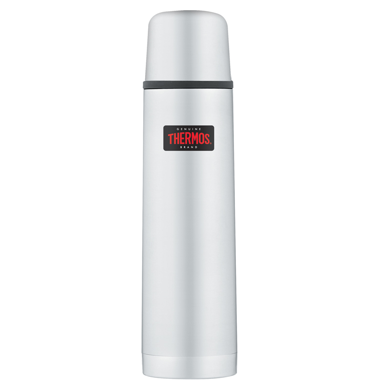 thermos light and compact flask 1 0l stainless steel. Black Bedroom Furniture Sets. Home Design Ideas